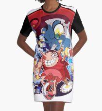 Cuphead World Graphic T-Shirt Dress