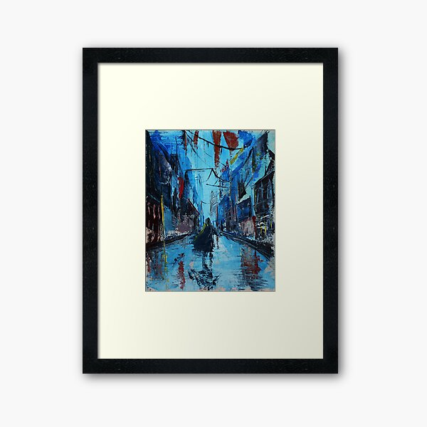On The Street Framed Art Print