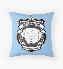 LABRADOR Security Service - Blue Throw Pillow