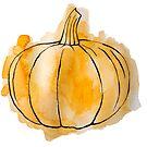 HALLOWEEN-KÜRBIS - Hand gezeichnet mit Aquarell u. Tinte von artbyvourneen