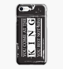 """""""You Come at the King, You Best Not Miss"""" - The Wire (Dark) iPhone Case/Skin"""
