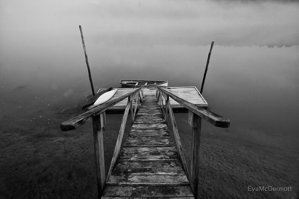Walking the Plank B&W by EvaMcDermott