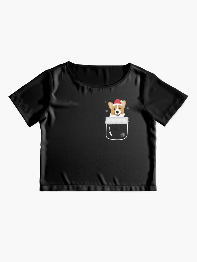 Alternate view of Corgi In Your Front Pocket Funny Christmas Costume Chiffon Top