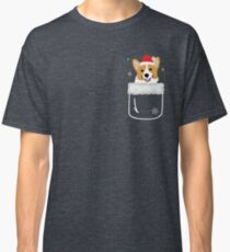 Corgi In Your Front Pocket Funny Christmas Costume Classic T-Shirt
