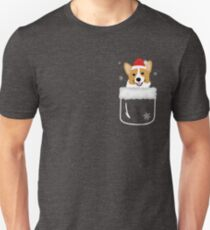 Corgi In Your Front Pocket Funny Christmas Costume Unisex T-Shirt