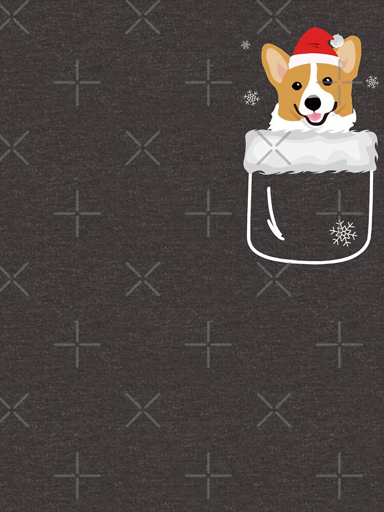 Corgi In Your Front Pocket Funny Christmas Costume by JapaneseInkArt