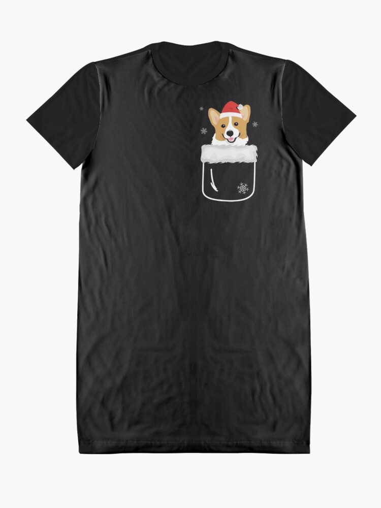Alternate view of Corgi In Your Front Pocket Funny Christmas Costume Graphic T-Shirt Dress