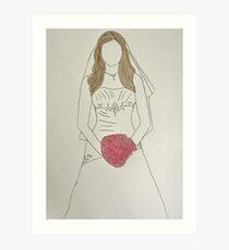 Wedding Dress No 7 Art Print