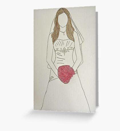 Wedding Dress No 7 Greeting Card