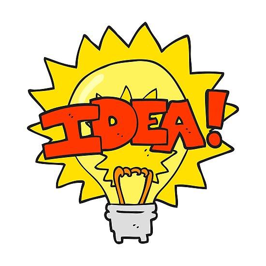 cartoon idea light bulb symbol by octoberarts