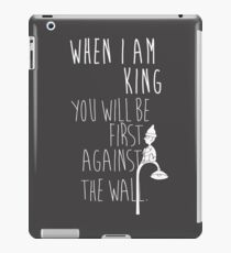 """When I am King, you will be first against the wall."" Radiohead - Light iPad Case/Skin"