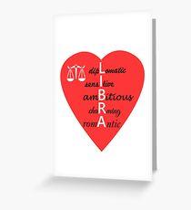 Libra Zodiac Gift Shirt/Hoodie-Diplomatic, Sensitive, Ambitious, Charming, Romantic Greeting Card