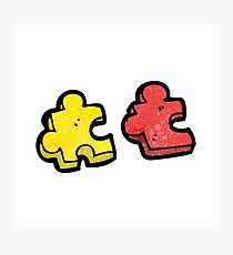 jigsaw puzzle piece cartoon Photographic Print
