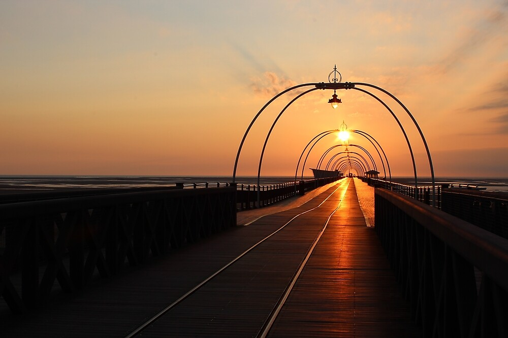 Southport Pier Sunset by Paul Madden