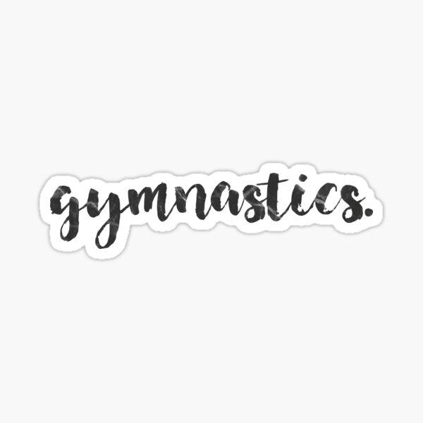 gymnastics calligraphy  Sticker