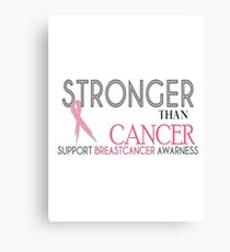 Breast Cancer Awarness Canvas Print