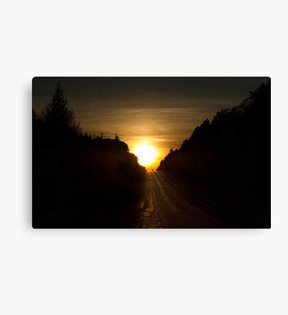 An Algonquin sunset Canvas Print