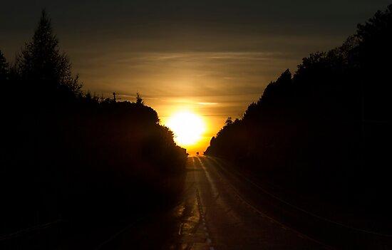 An Algonquin sunset by Jim Cumming