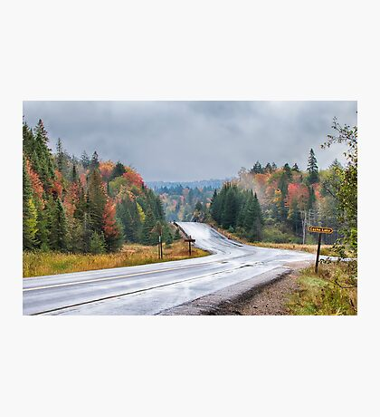 Algonquin park on Highway 60 in Autumn Photographic Print