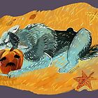 Wolves don´t know what Halloween is by belettelepink