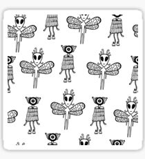 Aliens pattern Sticker
