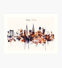 NYC New York Skyline Poster Art Print Art Print