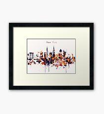 NYC New York Skyline Poster Art Print Framed Print