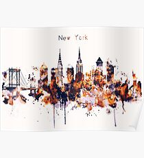 NYC New York Skyline Poster Art Print Poster