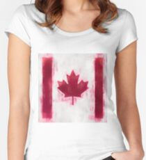 Maple Leaf Flag No. 2, Series 1 Women's Fitted Scoop T-Shirt