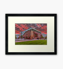 Red Sky Over Anfield Framed Print