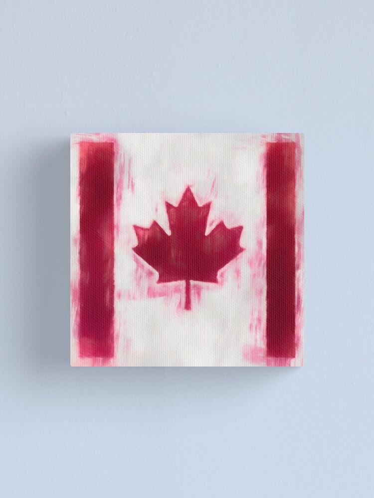 Alternate view of Maple Leaf Flag No. 2, Series 1 Canvas Print