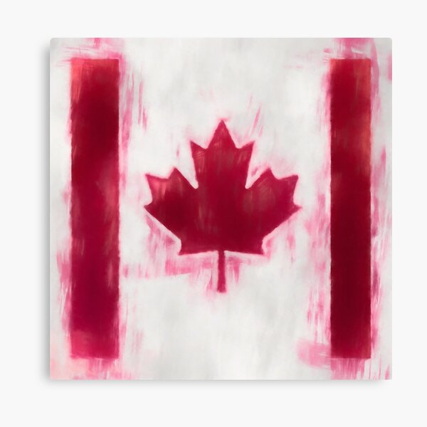 Maple Leaf Flag No. 2, Series 1 Canvas Print