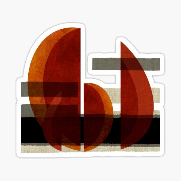 """""""Barcos abstractos al atardecer"""" Sticker"""