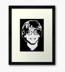 Young Bill Gates Framed Print