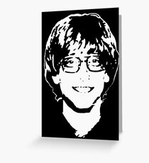 Young Bill Gates Greeting Card
