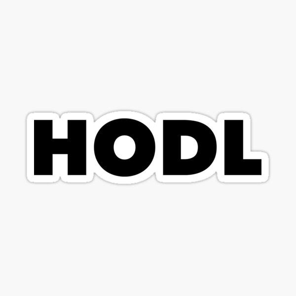 HODL Sticker