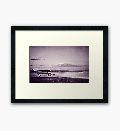 even when you're gone Framed Print
