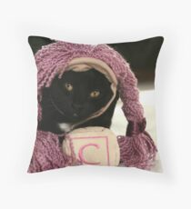 """""""C"""" IS FOR CAT!! Throw Pillow"""