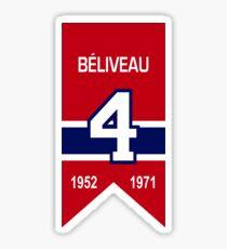 Jean Beliveau - retired jersey #4 Sticker