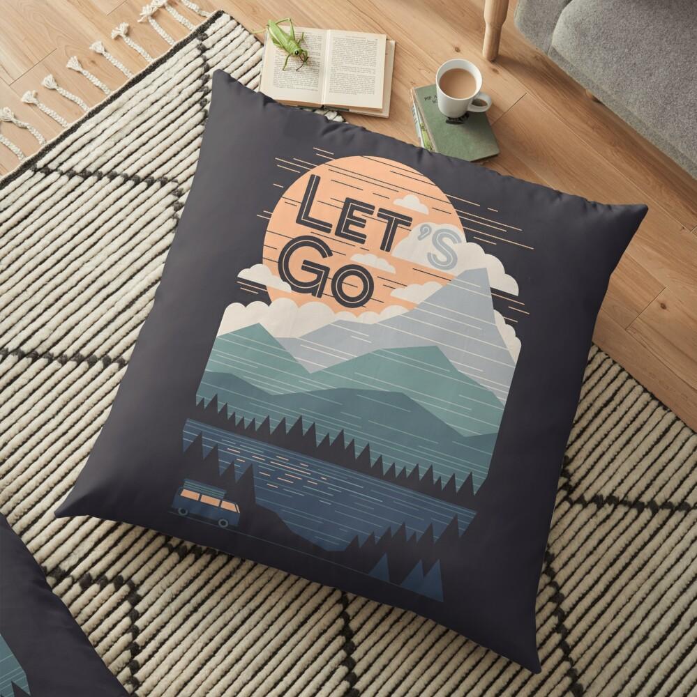 Let's Go Floor Pillow