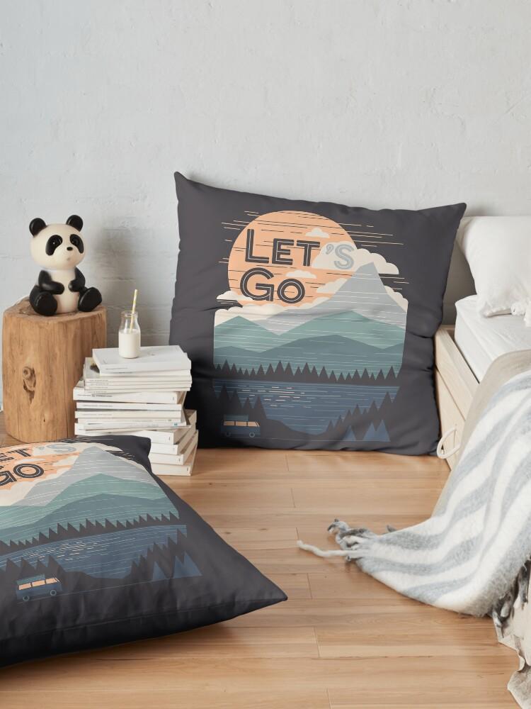Alternate view of Let's Go Floor Pillow