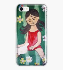 Girl and Pigeon iPhone Case/Skin