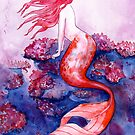 Red Coral Mermaid by SamNagel