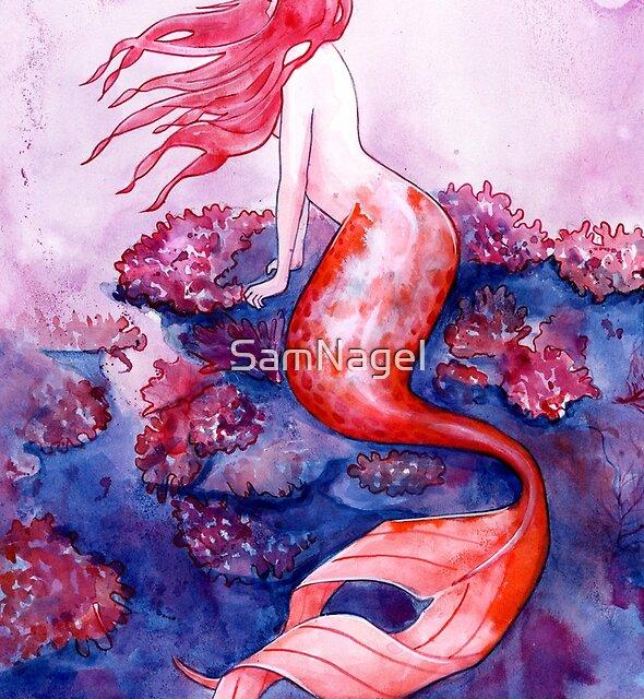 Red Coral Mermaid by SamNagel