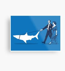 Walking the Shark Metal Print