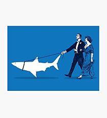 Walking the Shark Photographic Print