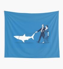 Walking the Shark Wall Tapestry