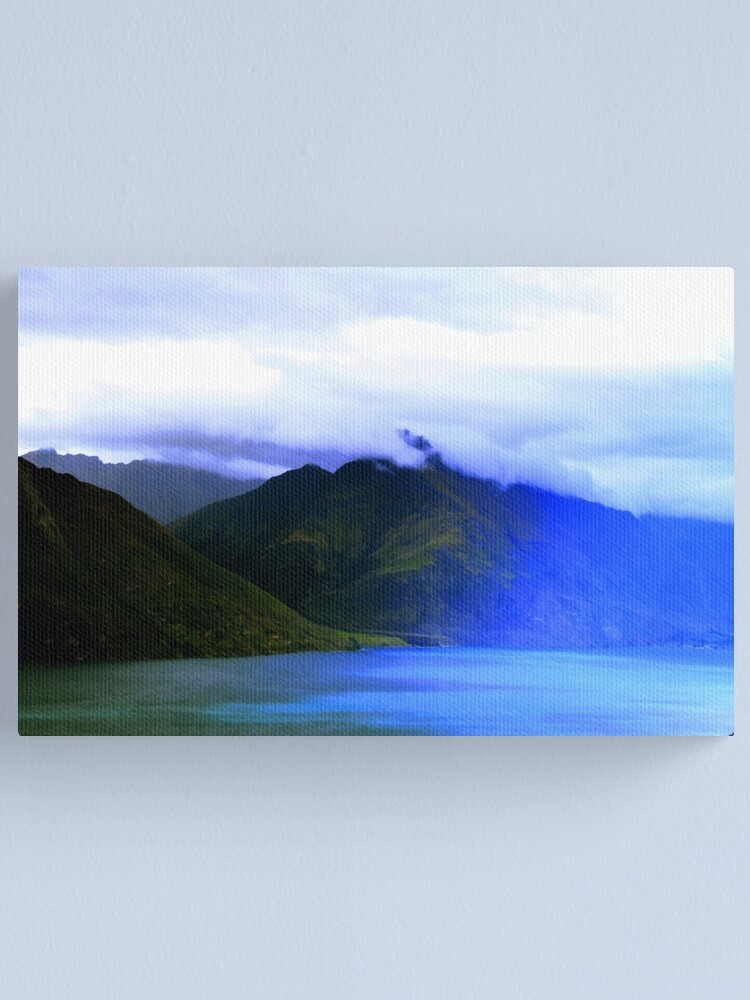 Alternate view of New Zealand Mountains Landscape Photography Canvas Print
