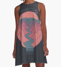 Canyon-Fluss A-Linien Kleid