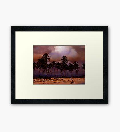 Dominican Beach Framed Print